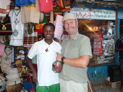 Kaim und ich auf dem Markt von Bahir Dar