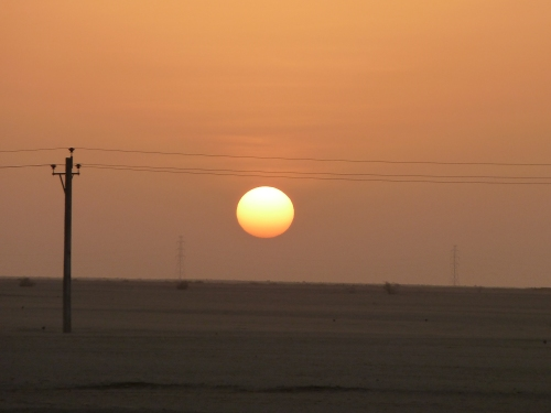 Sunset in the Nubian Desert