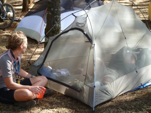 kleine Zelte gibt es auch