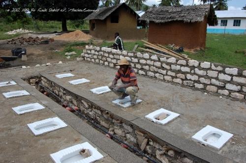 Fundament und Installation - Schülerbereich