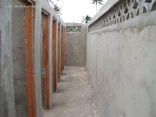 Verputzte Wände - Türrahmen