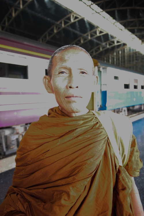 monk at main train station