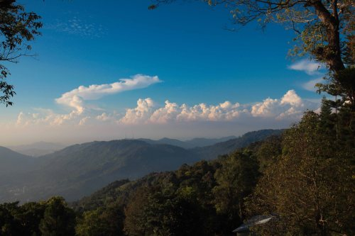 EARLY MORNING THUNDERSTORM building - seen from PENANG HILLS