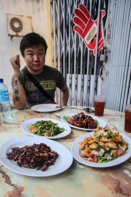 Nonyan Food - PORK, SQUID, SHRIMP, RIVER SPINACH - NITE: 2